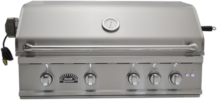 Sole 38 Inch Luxury TR Propane Gas Grill with Lights and Rotisserie