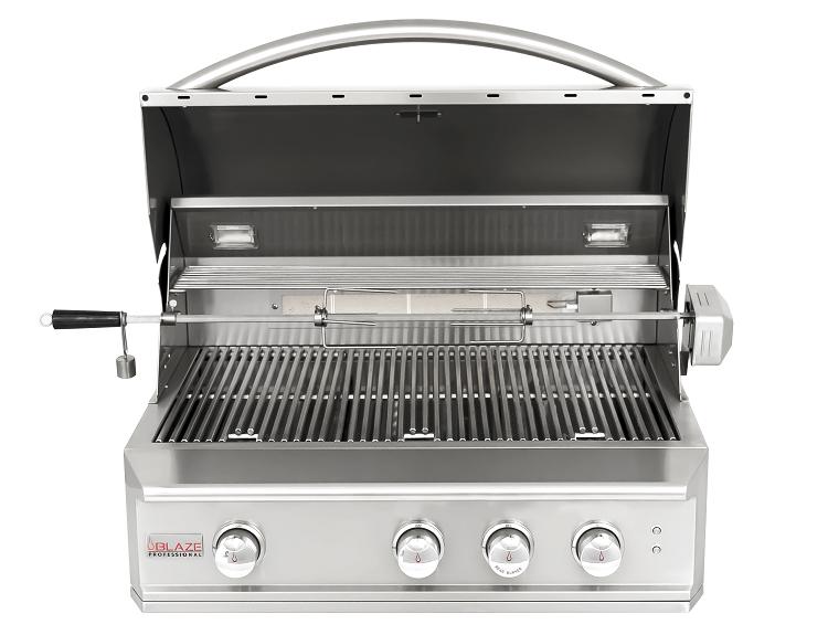 Blaze Professional 34 Inch 3 Burner Built In Gas Grill