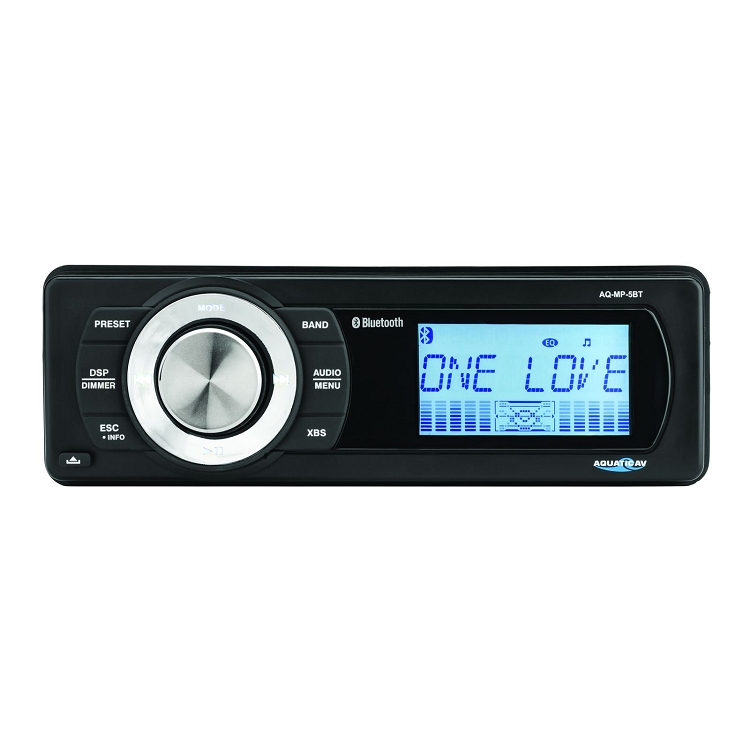 Aquatic AV Bluetooth Waterproof Marine Stereo