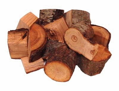 Peach Wood Chunks -1/2 Cu Ft