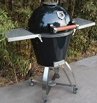 Caliber Thermashell Pro Black Charcoal Grill w/ Wood Handle