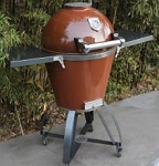 Caliber Thermashell Pro Terra Cotta Charcoal Grill w/ Stainless Steel Handle