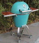 Caliber Thermashell Pro Turquoise Charcoal Grill w/ Stainless Steel Handle