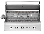 Delta Heat 38 Inch Natural Gas Grill with Interior Lights & Rotisserie
