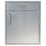 BBQ Island 21 Inch Single Door with 4 Inch Drawer Combo - 260 Series