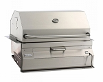 Fire Magic 24 Inch Charcoal Legacy Grill with Smoker Hood