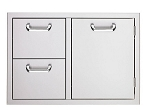 Sedona 30 Inch Double Drawer and Access Door Combo