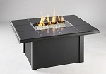 Napa Valley Fire Pit Rectangular Table - Absolute Black Metal Base