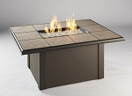 Napa Valley Fire Pit Square Table - Brown Metal Base