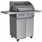 Sole Stainless Steel 4 Burner Grill on a Cart