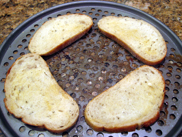 Garlic Rubbed Bread