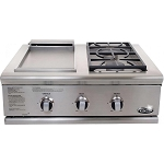 DCS Liberty 30 Inch Natural Gas Grill with Double Side Burner / Griddle Unit