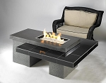 Uptown Black Fire Pit Table w/ CF1224 Burner