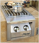 Alfresco 14-inch Natural Gas Dual Side Burner