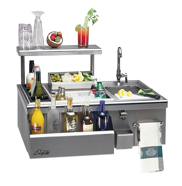 Alfresco 30 Inch Built In Bartender With Sink