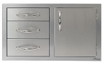 Alfresco 32-inch Combo Door plus Drawers -  Right Hinge
