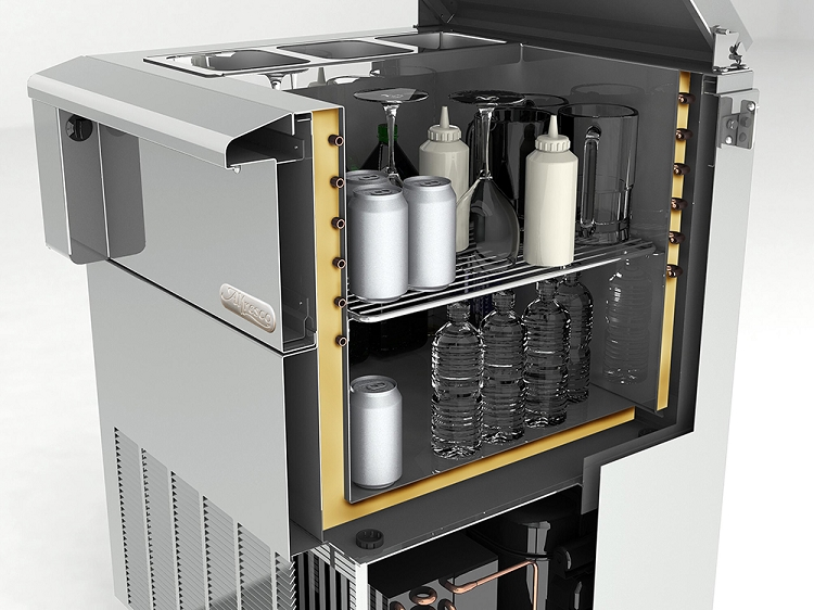 Alfresco Lxe Series 24 Inch Built In Drop In Refrigerator
