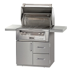Alfresco LXE Series 30 Inch All Infra Red Grill on Deluxe Cart - LP