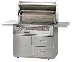 Alfresco LXE Series 42 Inch Standard Grill on Deluxe Cart - LP