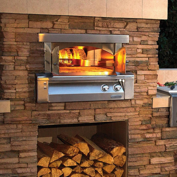 Alfresco 30 Inch Built In Natural Gas Outdoor Pizza Oven