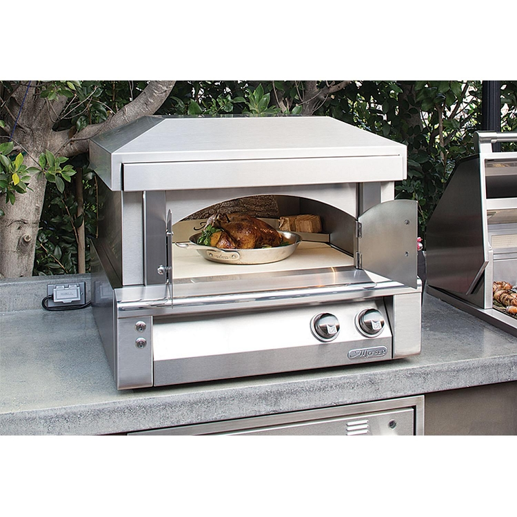 Countertop Oven Gas : Alfresco 30 Inch Natural Gas Countertop Pizza Oven Plus