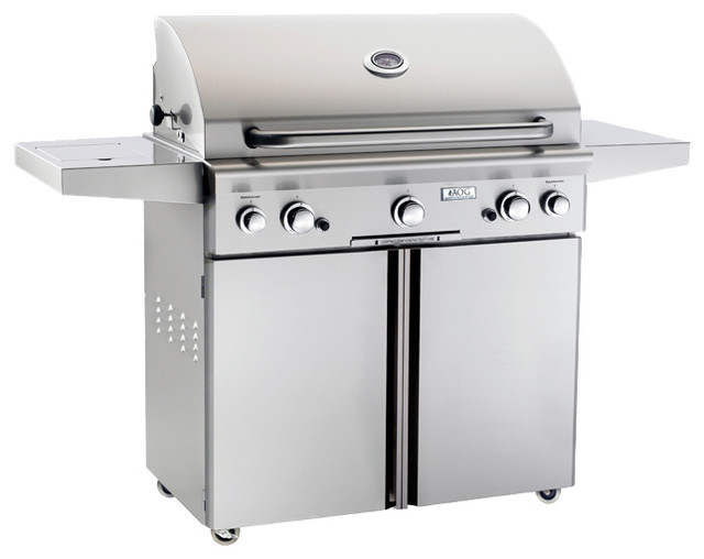 American Outdoor Grill 36 Inch Natural Gas Grill on Cart w/Rotisserie and Sideburner