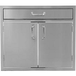 BBQ Island 30 Inch Double Door with 4 Inch Drawer Combo - 260 Series