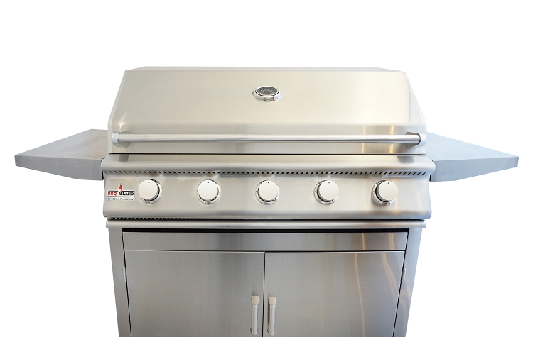 Bbq Island 40 Inch 5 Burner Natural Gas Grill On Cart