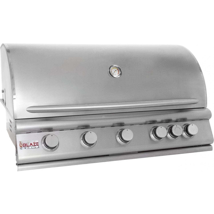 Blaze 40 Inch 5-Burner Natural Gas Grill with Rear Burner