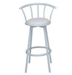 Bull Bar Stool - White