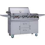Bull Premium 7 Burner Propane Gas Grill on Cart