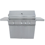 Caliber CrossFlame Silver 41 Inch Grill Cart
