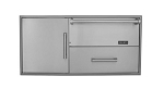 Coyote Warming Drawer plus Single Pullout Drawer Combo