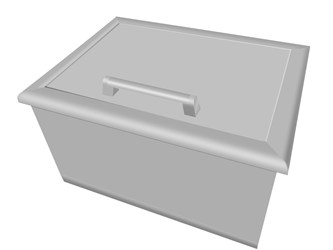 Coyote drop in cooler for Drop in cooler for outdoor kitchen