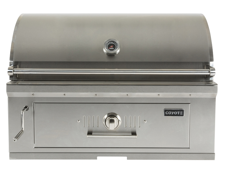 Coyote 36 inch built in charcoal grill for Coyote outdoor grill reviews