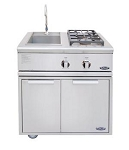 DCS 30 Inch Liberty Propane Grill with Dual Side Burner / Sink Unit - Floor Model
