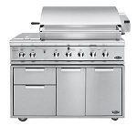 DCS 48 Inch 3 Burner Natural Gas Grill with Double Side Burner / Rotisserie