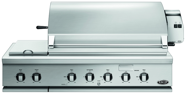 DCS 48 Inch Propane Gas Grill with Dual Side Burner and Rotisserie