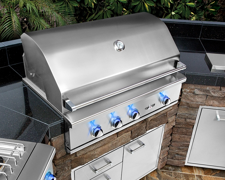 Delta Heat 26 Inch Natural Gas Grill With Interior Lights