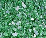 Emerald Reflective Fire Glass 1/4 Inch - 10 lbs