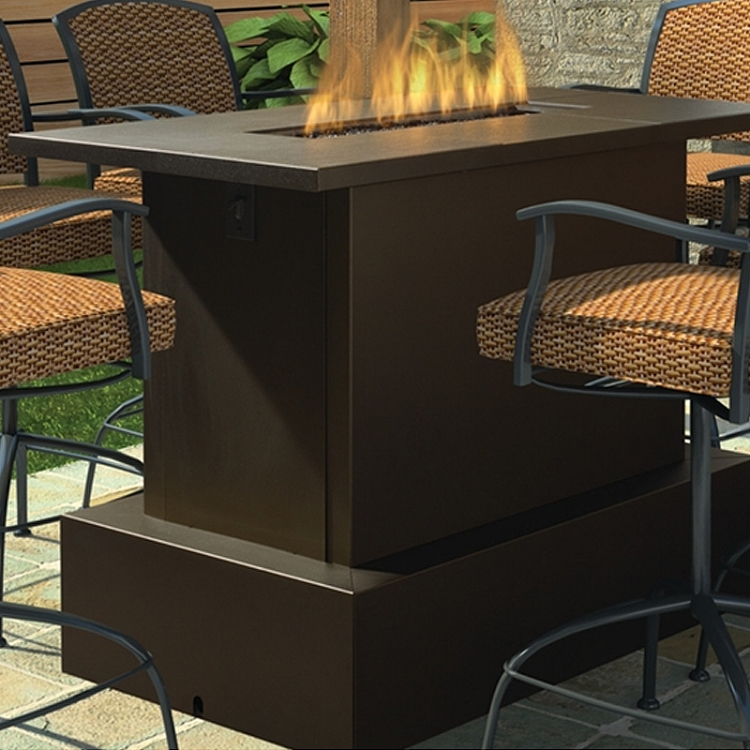 Bar height patio table with fire pit bar height fire pit table bar height patio table with fire pit watchthetrailerfo