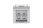 Hestan 12 Inch Double Side Burner Built-in