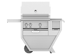 Hestan 30 Inch Natural Gas Deluxe Grill with Worktop, 1 Trellis Burner 1 Sear Burner