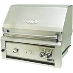 Luxor 30 Inch Natural Gas Grill with 2 Infrared Burners