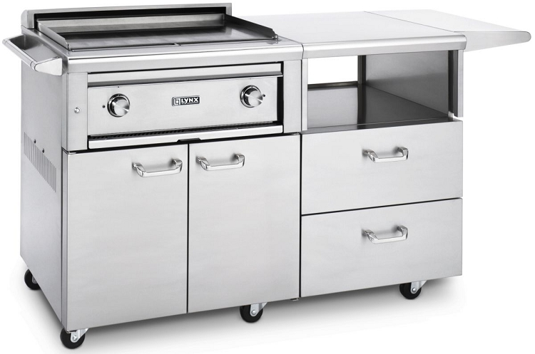 lynx 30 inch asado flat top natural gas grill on mobile