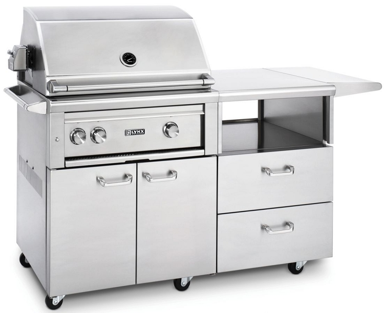 Lynx 30 inch professional natural gas grill w rotisserie for 30 inch kitchen island