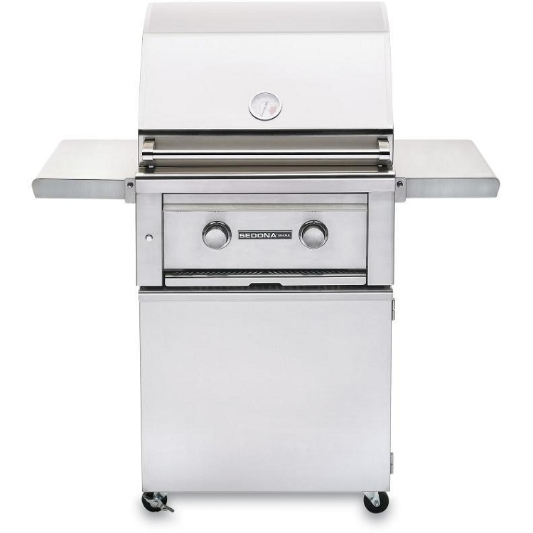 Lynx Sedona 24 Inch Natural Gas Grill - 2 SS Tube Burners on Cart