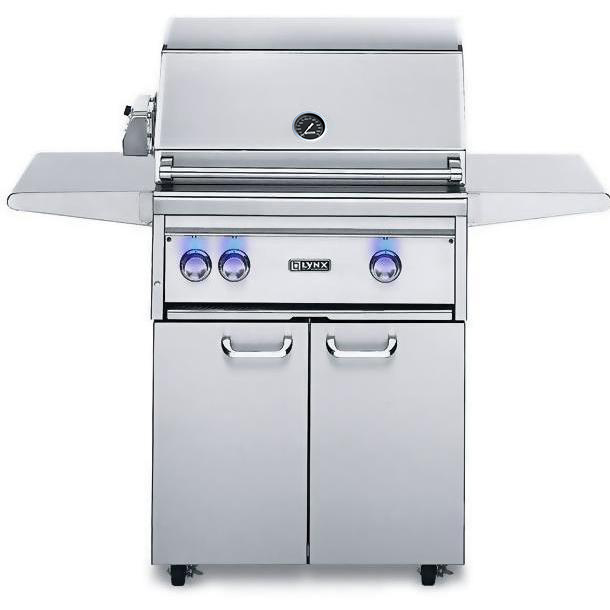 Lynx 30 Inch Professional Propane Gas Grill w/ProSear Burner and Rotisserie on Cart