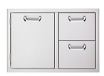 Lynx L500 30 Inch Double Drawer and Trash Center Combo