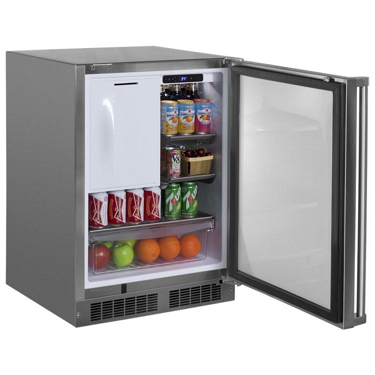 Marvel 24 Inch Outdoor Refrigerator Freezer W Ice Maker Option